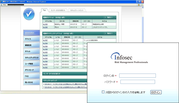 The image of the InfoCIC Web portal site
